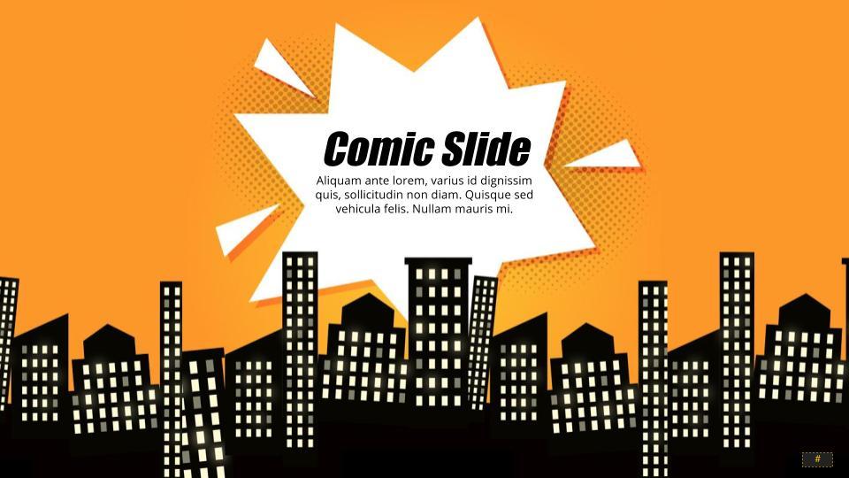 comic book template powerpoint - comic google slides theme powerpoint template slidesgala
